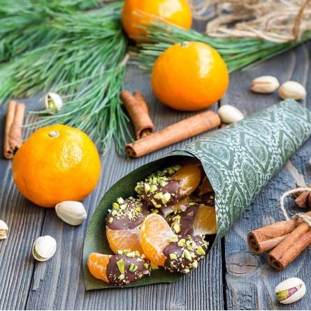 Mandarini Biologici Almaverde Bio con cioccolato e pistacchi su FruttaWeb.com