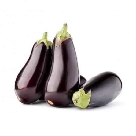 Organic Round black Eggplants