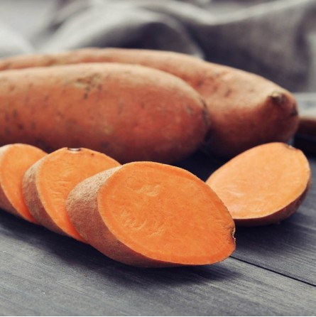 Cassetta di Patate Dolci a Pasta Arancione