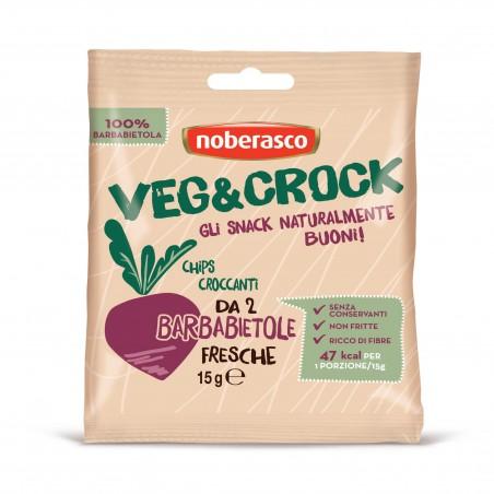 Barbabietola Veg&Crock Noberasco: chips pronte al consumo. Disponibili ora su fruttaweb