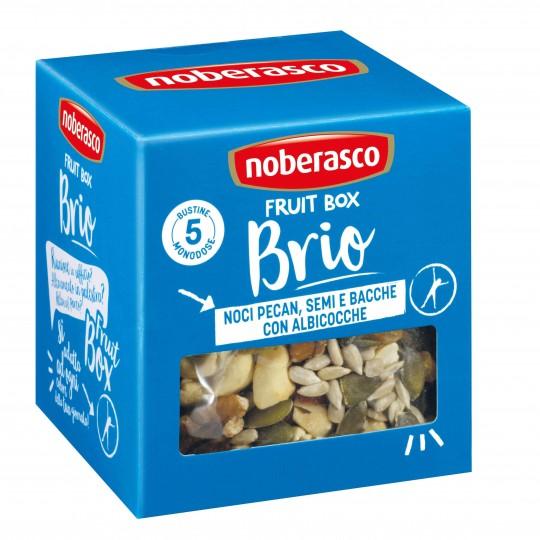 Noci pecan semi e bacche con albicocche Fruit Box Brio Noberasco
