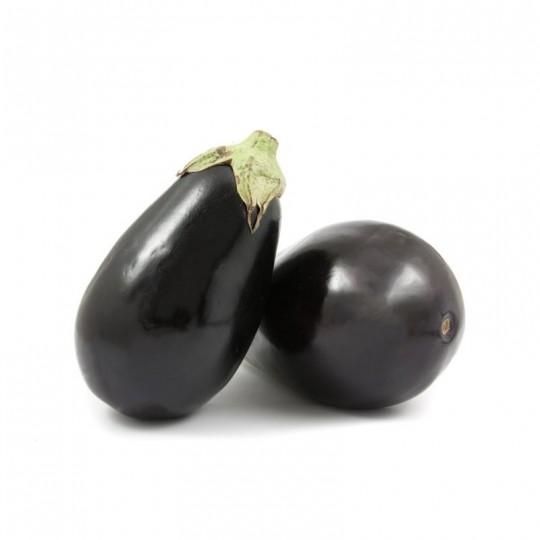 Round black eggplants - 1 kg