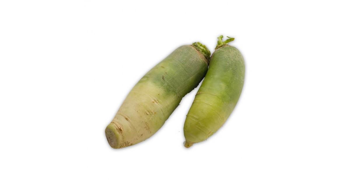 Acquista ora online la rapa lunga a buccia verde e polpa bianca solo su fruttaweb!