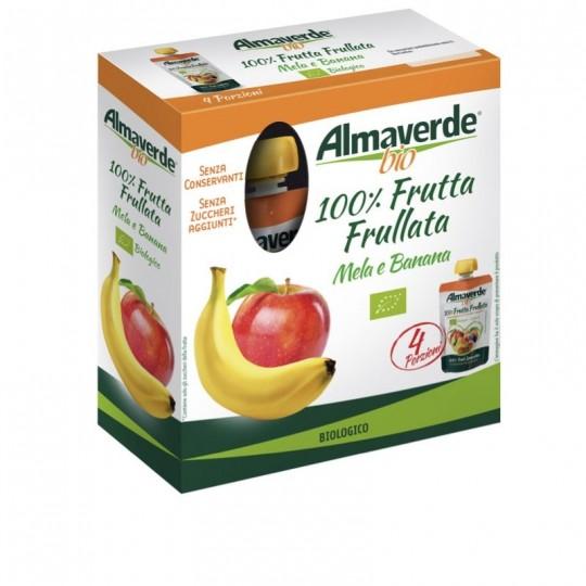 Frutta Frullata Mela e Banana Biologica Almaverde Bio Ambiente Acquista Online su fruttaweb.com