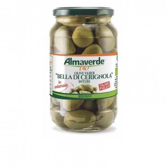 """Olive Verdi Biologiche """"Bella di Cerignola"""" Denocciolate Almaverde Bio Acquista Online su FruttaWeb.com"""