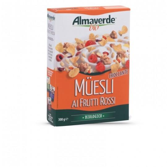 Muesli Croccante con Frutti Rossi Biologico Almaverde Bio