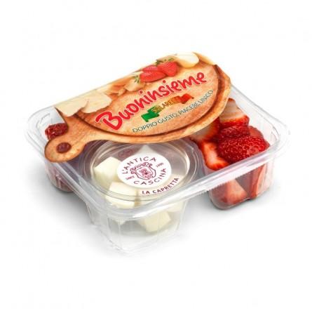 Buoninsieme: Fragole e Formaggio La Capretta acquista online su FruttaWeb.com