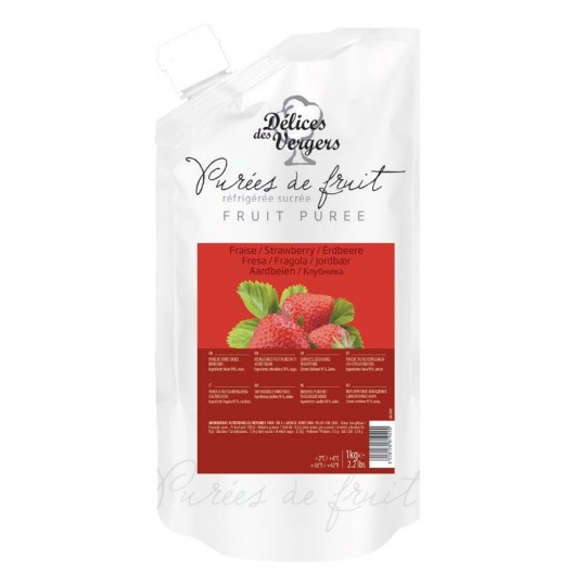 Strawberry natural pulp