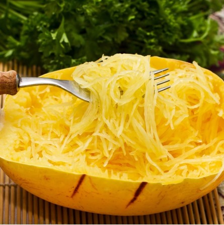 Zucca Spaghetti Cotta