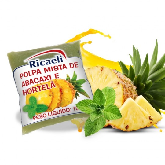 Ananas e Menta Purea Surgelata 40 Buste Mono-Dose da 100 g
