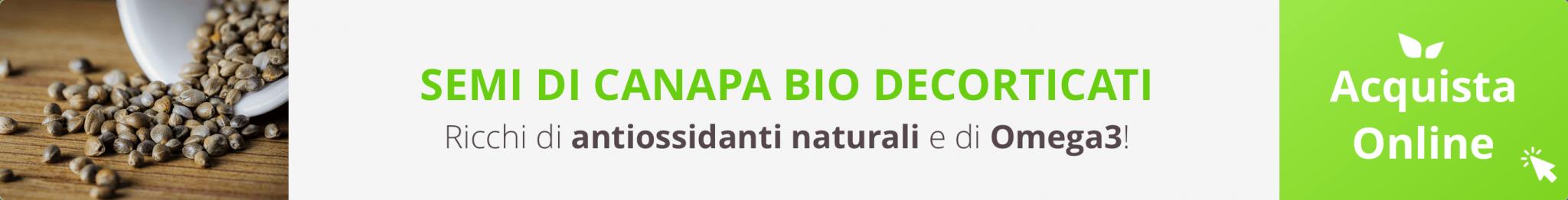 Acquista Online Semi di Canapa Bio Decorticati su FruttaWeb.com