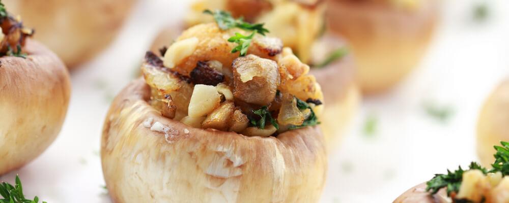 ricetta funghi champignon ripieni al forno acquista online fruttaweb