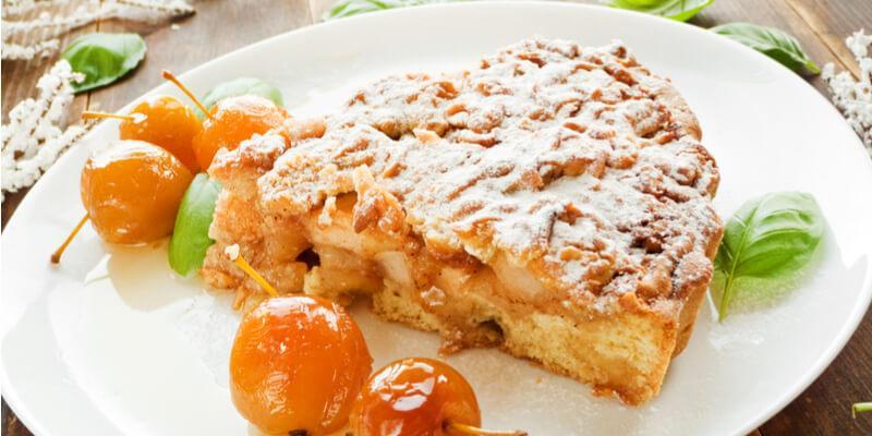 torta mele basilico