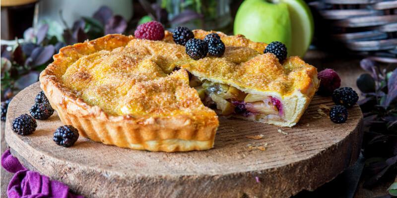 torta mele e more senza glutine