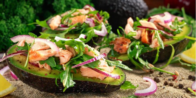 avocado ripieno pesce