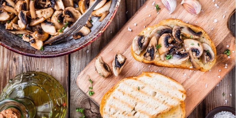 crostini funghi bruschetta mushroom