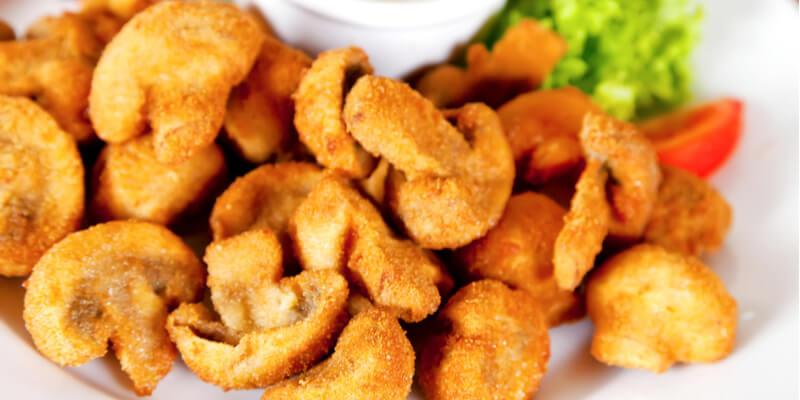 funghi champignon fritti