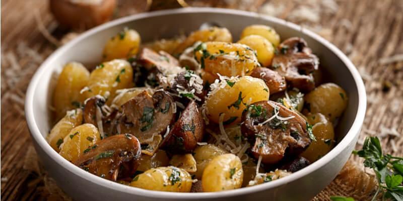 gnocchi di patate ai funghi