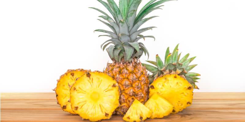 ananas fresco fette
