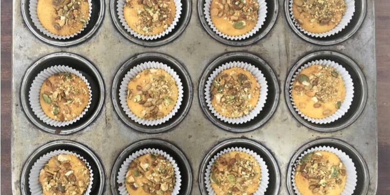 muffin vegan curcuma