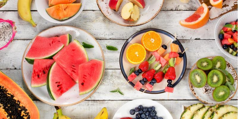 frutta e verdura di stagione in estate