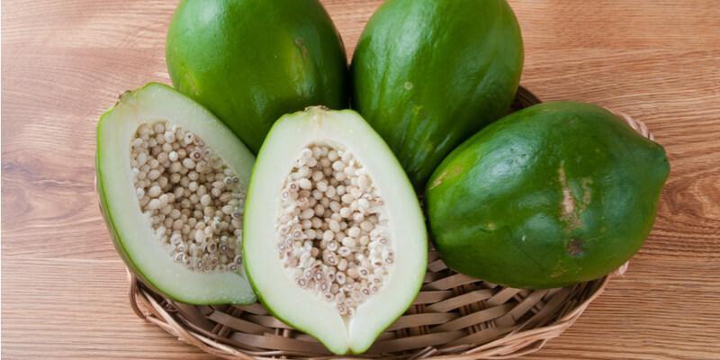 papaya verde fresca