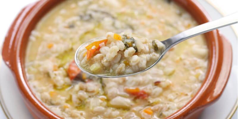 zuppa cereali leggeri