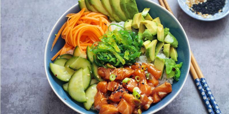 poke bowl all'avocado