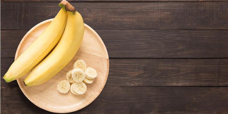 banana fresca tagliata