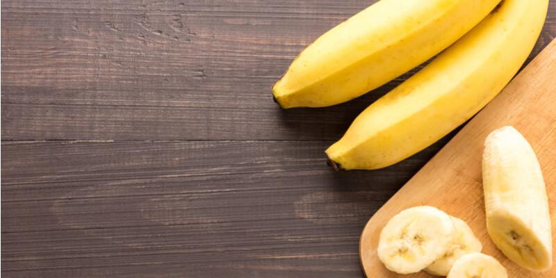 banana tagliata a fette