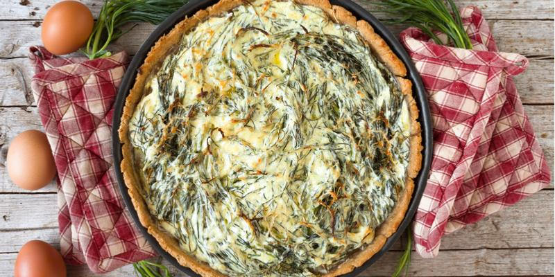 crostata agretti e patate