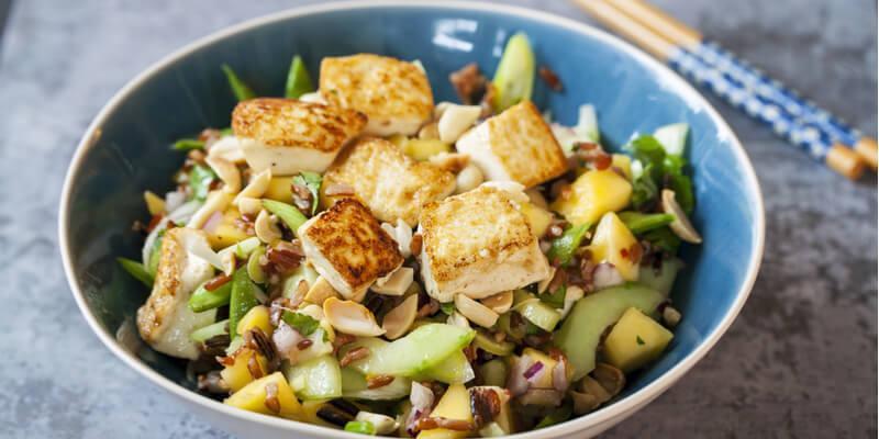 insalata tofu rucola e mango