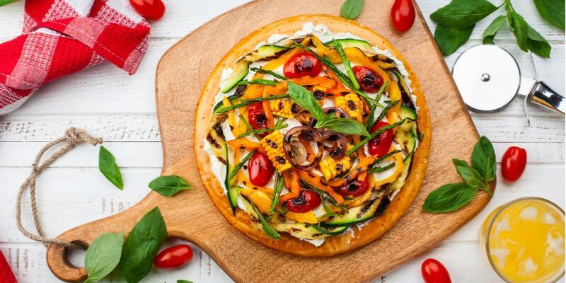 Ricette Verdure Vegane.Pizza Con Verdure Grigliate Ricetta Veg Fruttaweb