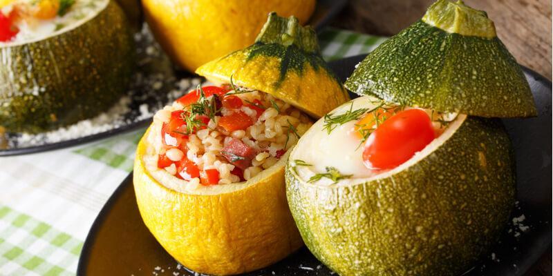 ricetta zucchine ripiene al forno