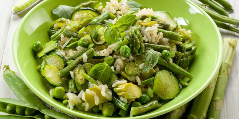 ricetta insalata di riso con zucchine e fagiolini