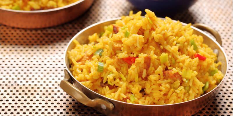ricetta riso con peperoni e curry