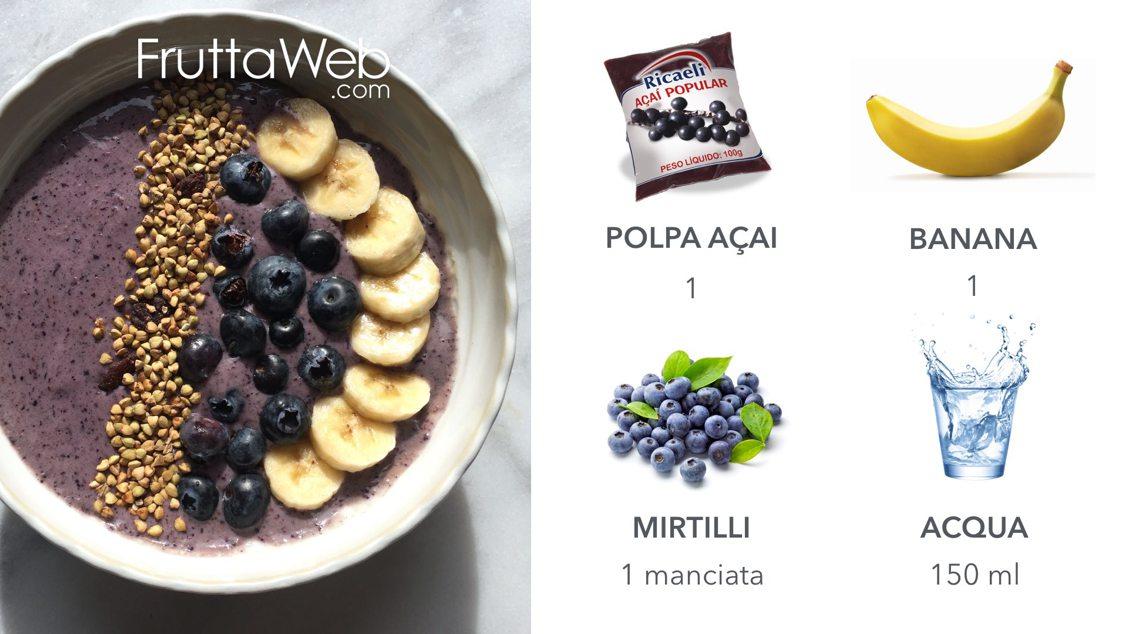 Polpa di Açai, Mirtilli Freschi e Banana
