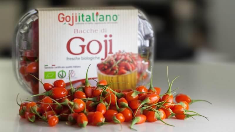 Confezione di Bacche di Goji Fresco Biologico Coltivato in Italia