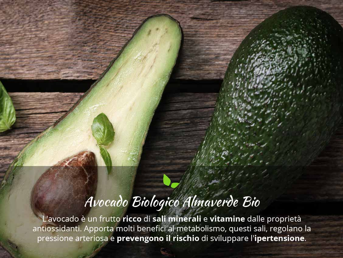 Avocado fresco proprietà nutritive