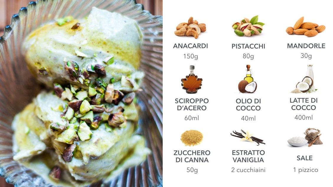 Ricetta gelato vegano Pistacchio e mandorle: scopri il Blog di FruttaWeb
