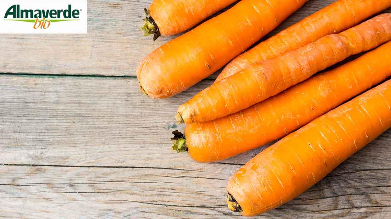 Ordina ora online le carote fresche biologiche di Almaverde bio su FruttaWeb!