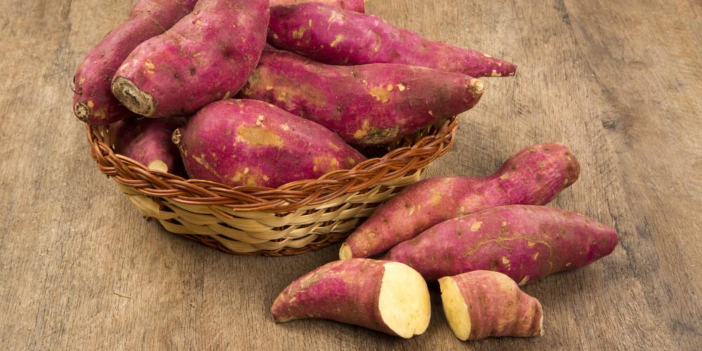 Cassetta di patate dolci a pasta bianca