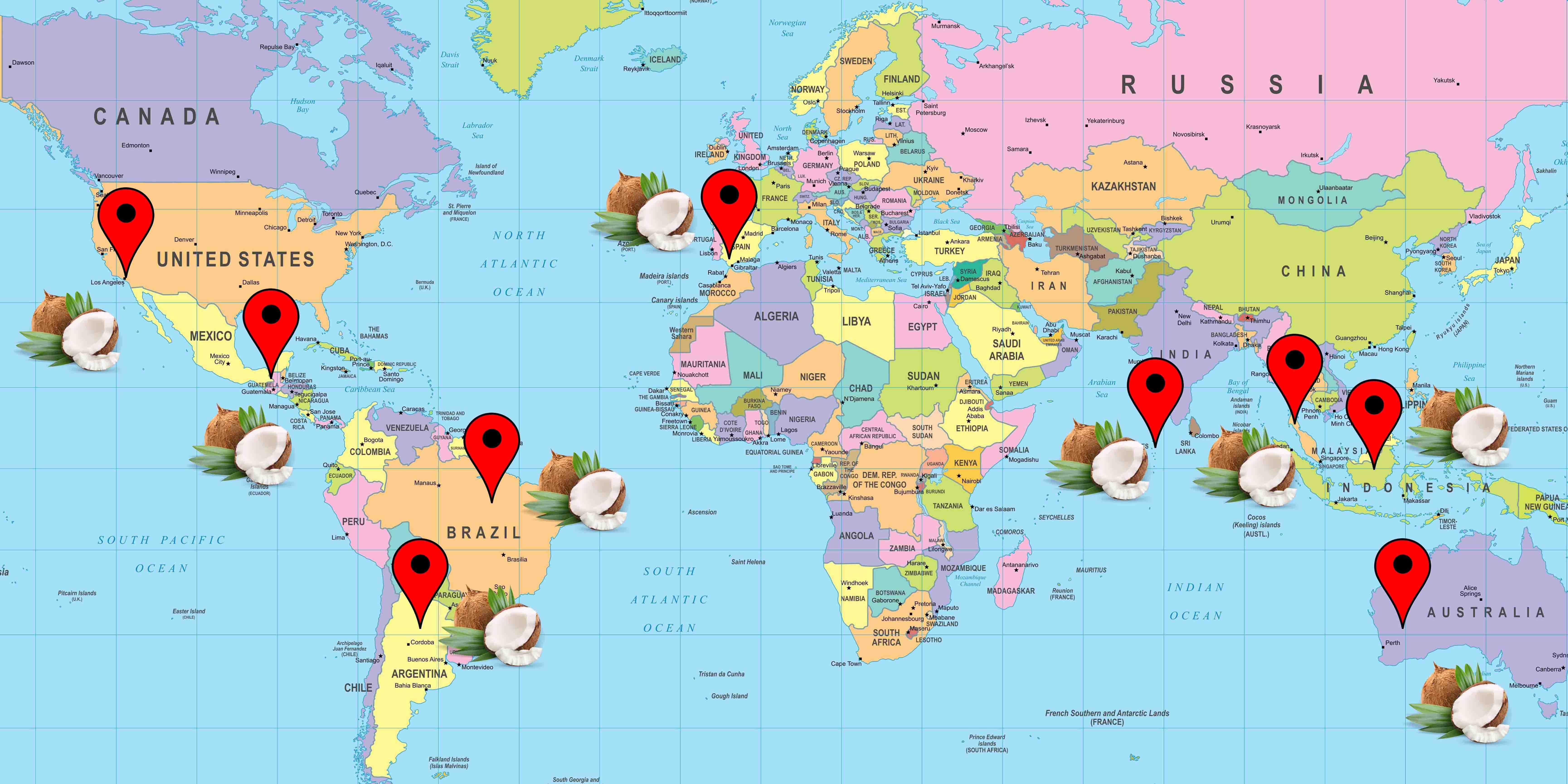 Cocco cartina prodotto