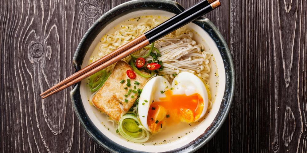 Funghi Enoki ricetta tofu