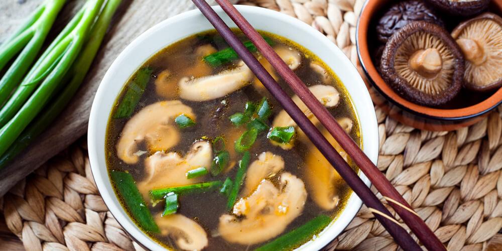 Funghi Shiitake zuppa