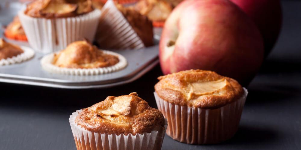 Mele disidratate muffin