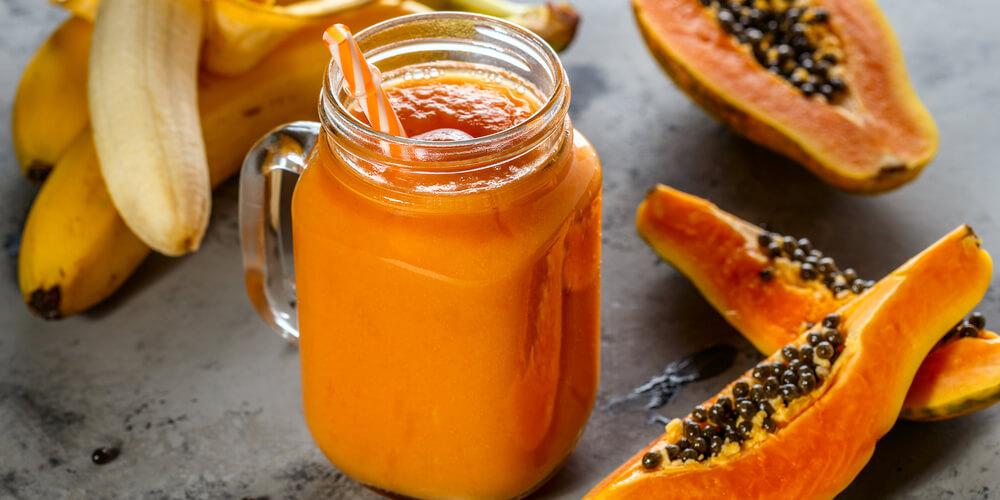 Papaya fresca frullato ricetta