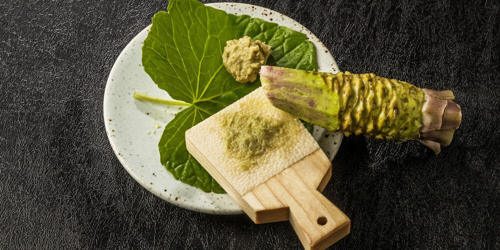 Wasabi radice uso in cucina