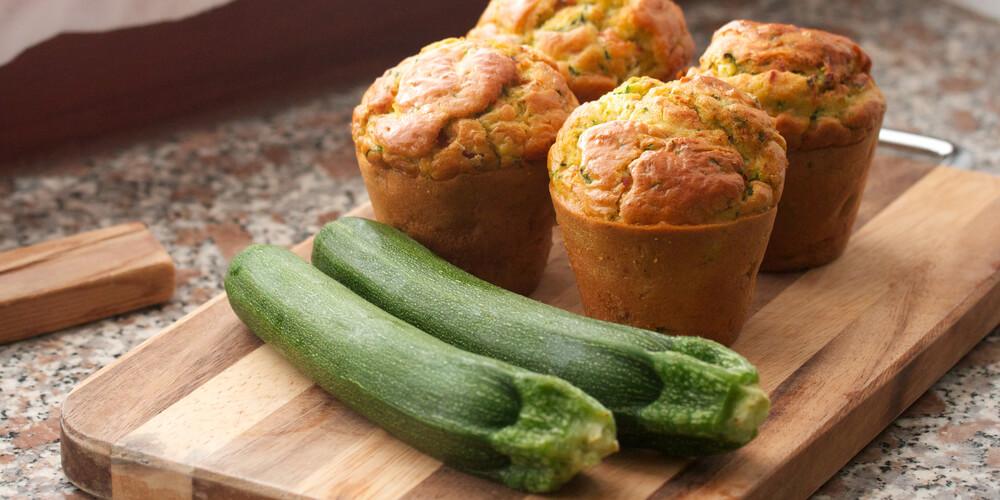 Zucchine verdi scure biologiche muffin