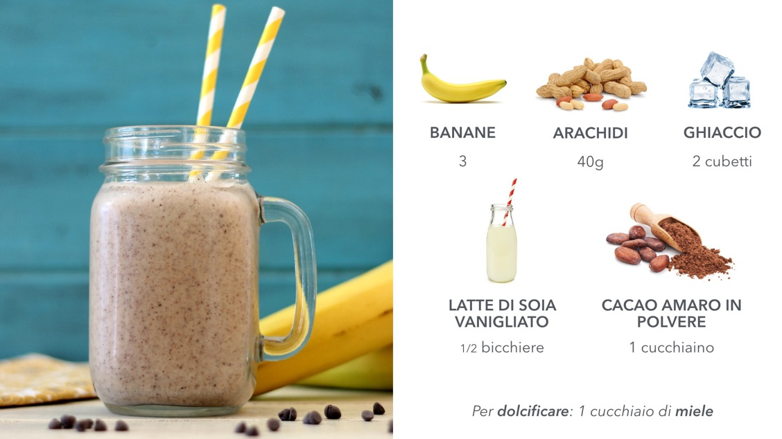 Anergy drink naturali: banana e arachidi